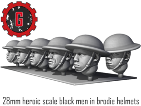28mm heroic scale black brodies in Smooth Fine Detail Plastic: Small
