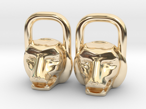 Kettlebell Lion Charm in 14K Yellow Gold