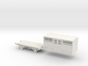 Cattle Wagon in White Natural Versatile Plastic