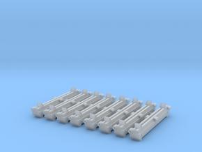 HO Scale Log Bunks - 8 in Smooth Fine Detail Plastic