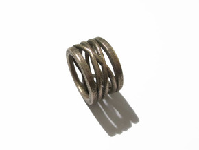 nest ring size 8 in Polished Bronzed-Silver Steel