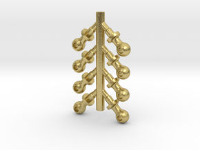 G SCALE SHORT BOILER STANCHIONS 8PK in Natural Brass