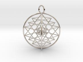 3D Sri Yantra Symmetrical in Platinum