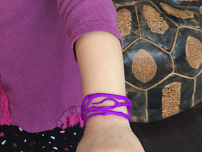 Childrens Coral Cuff in Purple Processed Versatile Plastic