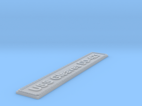 Nameplate USS Gleaves DD-423 in Smoothest Fine Detail Plastic