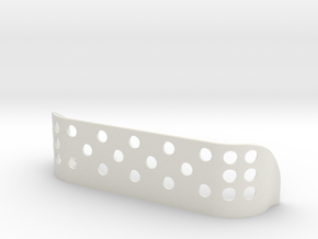 Large Cleat Shield / Handicap SAFETY in White Natural Versatile Plastic
