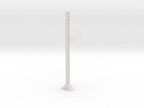 1 track pole in White Natural Versatile Plastic