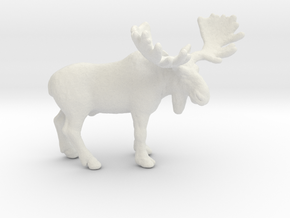Moose Elk miniature model fantasy games rpg dnd in White Natural Versatile Plastic