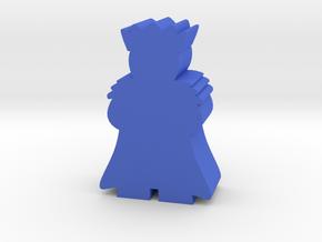 King Meeple, fur cloak in Blue Processed Versatile Plastic