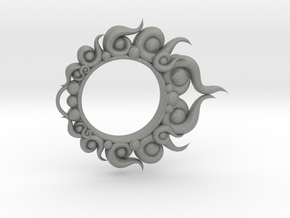 Fire and Lantern Ring: Piece 3 out of 3 - The Ring in Gray PA12: Small