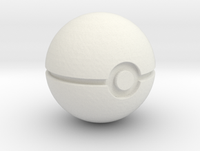 pokeball (v1) in White Natural Versatile Plastic: Medium