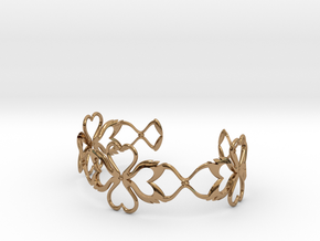 Swan-Heart Bracelet in Polished Brass