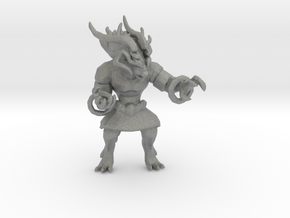 FinalFantasy Ifrit miniature model games rpg dnd in Gray PA12