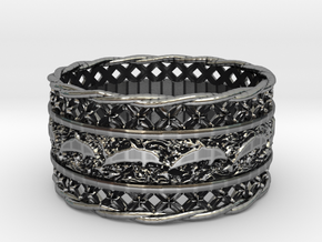 Dolphin Bangle in Antique Silver