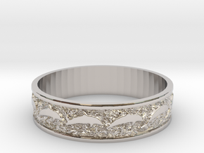 Dolphin Bangle - Simplified in Platinum