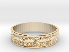 Dolphin Bangle - Simplified in 14K Yellow Gold