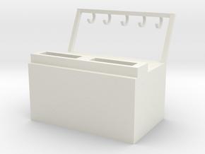 Key deposit money box in White Natural Versatile Plastic