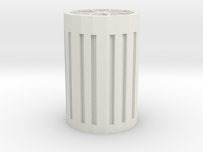 Wheel frame pen money box in White Natural Versatile Plastic