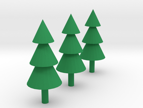 Trees Miniatures ( Set of 3 ) in Green Processed Versatile Plastic