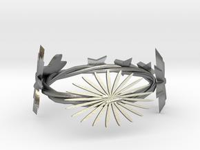 FlowerRing in Natural Silver: Medium