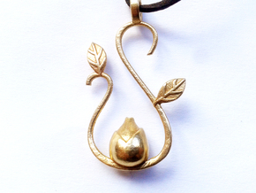 Spring pendant in Natural Brass