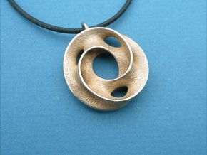 Minimal - Pendant in Steel in Polished Bronzed-Silver Steel