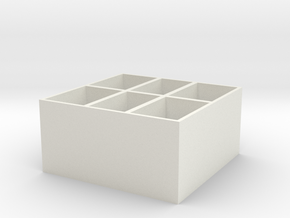 Separte storage box in White Natural Versatile Plastic