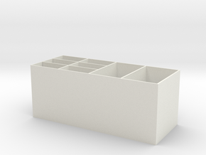 Multi layer storage box in White Natural Versatile Plastic