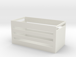 Lightweight storage basket in White Natural Versatile Plastic
