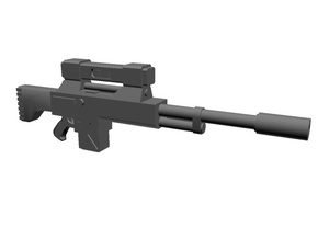 Laser sniper rifles 20 in Smoothest Fine Detail Plastic