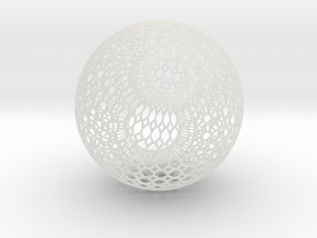 Lampshade (Ikebana-1 Honeycomb Wireframe) in Smooth Fine Detail Plastic