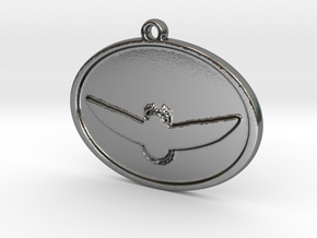 Scarab Beetle pendant in Polished Silver