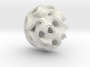 Gyroid_01 in White Natural Versatile Plastic