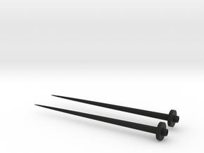 Screw chopsticks in Black Natural Versatile Plastic