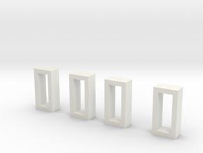Tool box Buckles in White Natural Versatile Plastic