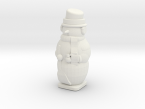 Light up snowman in White Natural Versatile Plastic