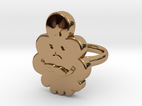 Lumpy Space Princess Ring (Large) in Polished Brass