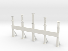 N scale entrance gate in White Natural Versatile Plastic