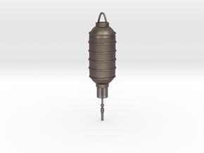 Long lantern in Polished Bronzed-Silver Steel