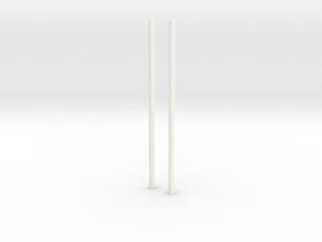 Environmental chopsticks in White Processed Versatile Plastic: 28mm