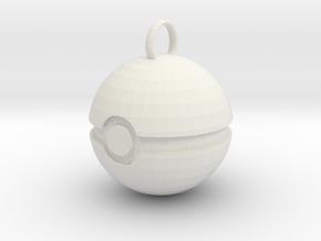 Pokemon Ball Jewelry in White Natural Versatile Plastic: Small