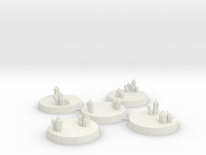 28mm Crystal Cluster Bases in White Natural Versatile Plastic
