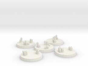 32mm Crystal Cluster Bases in White Natural Versatile Plastic