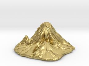 Mount Rainier in Natural Brass