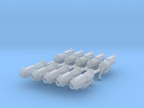 SciFi Revolver Mk1 x10 #1 in Smooth Fine Detail Plastic