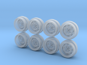 Kamagawa Steelies 7-5 Hot Wheels Rims in Smooth Fine Detail Plastic