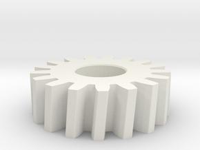 SpurGear-1 in White Natural Versatile Plastic