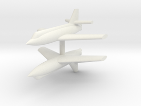 1/285 Bell X-2 (x2) in White Natural Versatile Plastic