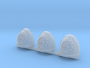 Steel Handed Warriors 3rd clan Gravus pads x3 #1 L in Smooth Fine Detail Plastic