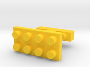SCULP® Classic Cufflinks in Yellow Processed Versatile Plastic